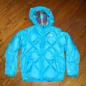 Girl's reversible the North face jacket size small